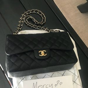 Chanel Black Jumbo Double Flap in Caviar with GHW